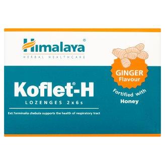 Himalaya Koflet-H Smak imbirowy Pastylki do ssania Suplement diety 33,6 g (12 pastylek)