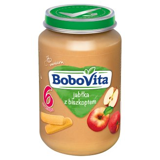 BoboVita Jabłka z biszkoptem po 6 miesiącu 190 g