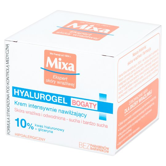 Mixa Hyalurogel Rich Intensive Moisturizing Cream 50 ml