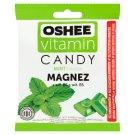 Oshee Vitamin Candy Suplement diety Karmelki twarde o smaku miętowym  90 g