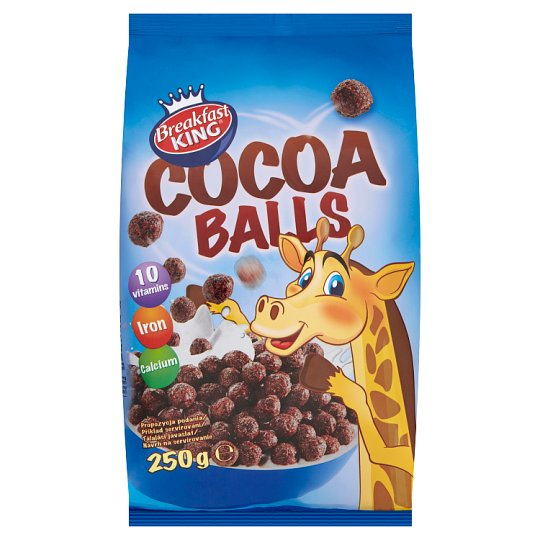 Breakfast King Cocoa Balls Cereal 250 g