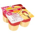Zott Serduszko Vanilla Flavour Delicious Pudding with Raspberry Flavour Sauce 500 g (4 x 125 g)