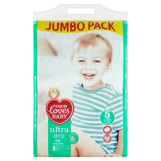Tesco Loves Baby Ultra Dry Nappies 5 Junior 11-25 kg 68 Pieces