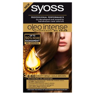 Syoss Oleo Intense Hair Colorant Gold Brown 4-60