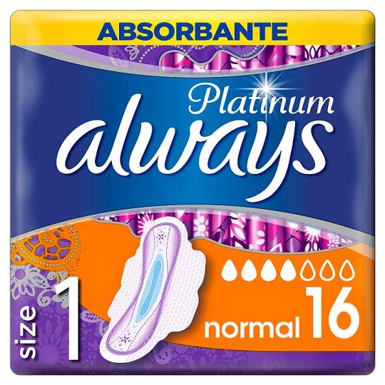 Always Platinum Ultra Normal+ Podpaski ze skrzydełkami x 16