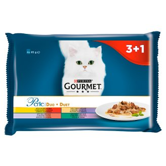 Gourmet Perle Duo Complete Food for Adult Cats 340 g (4 x 85 g)