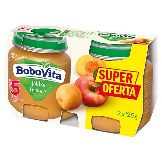 BoboVita Apples and Apricots after 5 Months Onwards 2 x 125 g