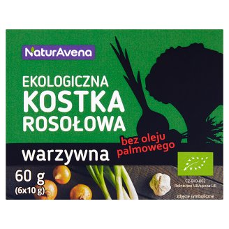 NaturAvena Vegetable Organic Bouillon Cubes 60 g (6 x 10 g)