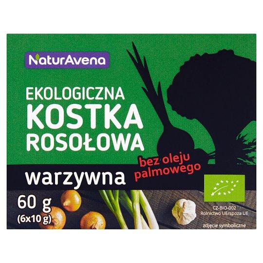 NaturAvena Ekologiczna kostka rosołowa warzywna 60 g (6 x 10 g)