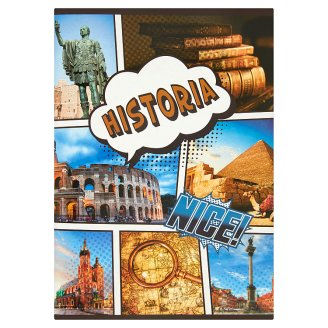 History A5 Squared 60 Pages Notebook