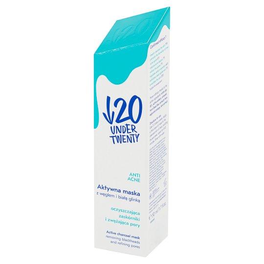 Under Twenty Anti Acne Aktywna maska z węglem i białą glinką 50 ml