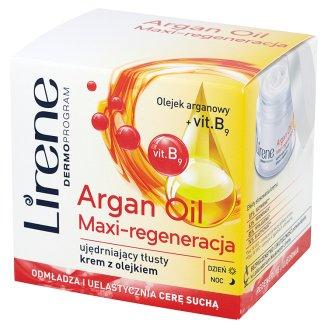 Lirene Dermoprogram Argan Oil Maxi-regeneracja Ujędrniający tłusty krem z olejkiem 50 ml