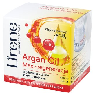 Lirene Dermoprogram Argan Oil Maxi-Regeneration Firming Rich Cream with Oil 50 ml