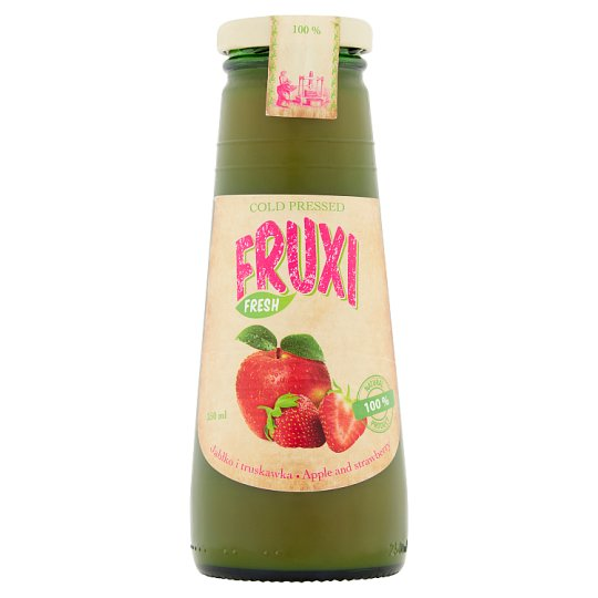 Fruxi Fresh Apple and Strawberry 100% Natural Juice Pressed from Fresh Fruits 250 ml