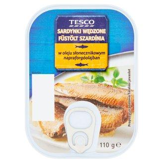 Tesco Smoked Sardines in Sunflower Oil 110 g