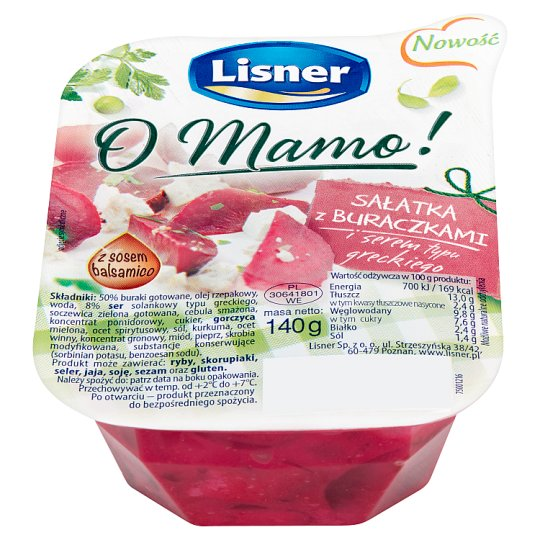 Lisner O Mamo! Salad with Beetroot and Greek Style Cheese 140 g