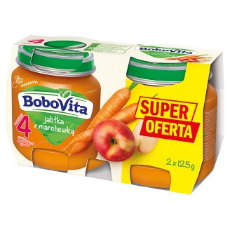 BoboVita Apples with Carrot after 4 Months Onwards 2 x 125 g