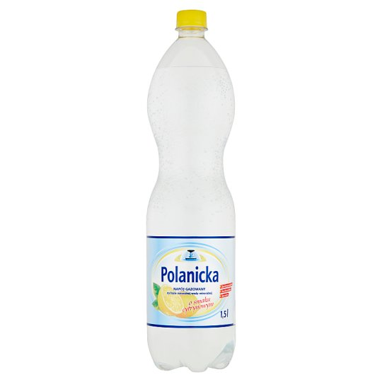Polanicka Lemon Flavoured Carbonated Drink Based on Natural Mineral Water 1.5 L