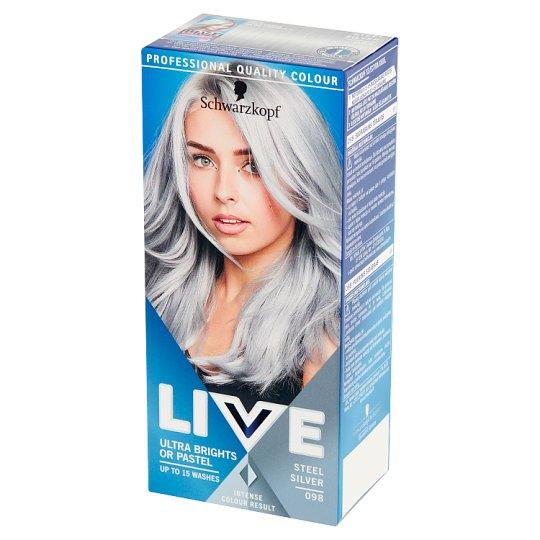 Schwarzkopf Live Ultra Brights or Pastel Farba do włosów 098 Steel Silver