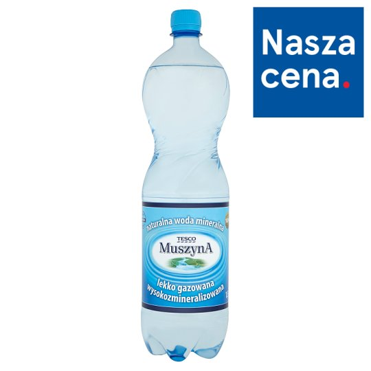 Tesco Muszyna Lightly Sparkling Rich Mineral Natural Water 1.5 L