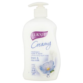 Luksja Creamy Linen & Rice Milk Moisturising Liquid Soap 450 ml