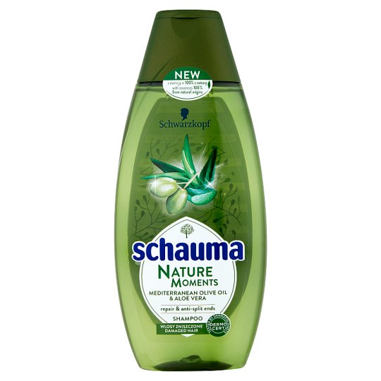 Schauma Nature Moments Rebuilds Mediterranean Olive Oil and Aloes Shampoo 400 ml