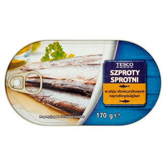 Tesco Sprats in Sunflower Oil 170 g