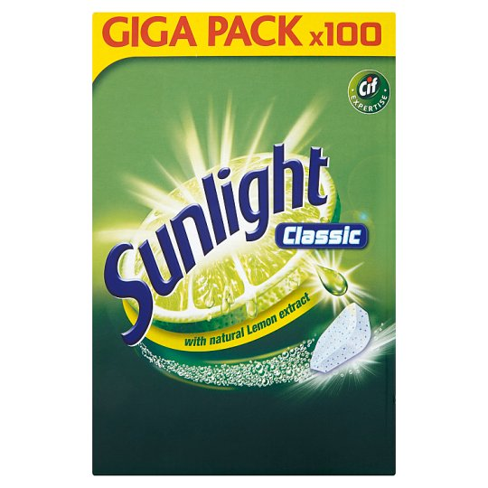 Sunlight Classic Dishwasher Tablets 950 g (100 Pieces)