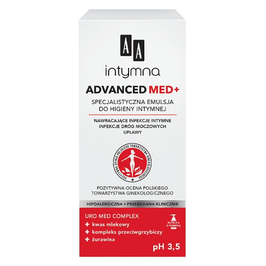 AA Intimate Med Advanced ph 3,5 specialist emulsion for intimate hygiene dispenser 300 ml