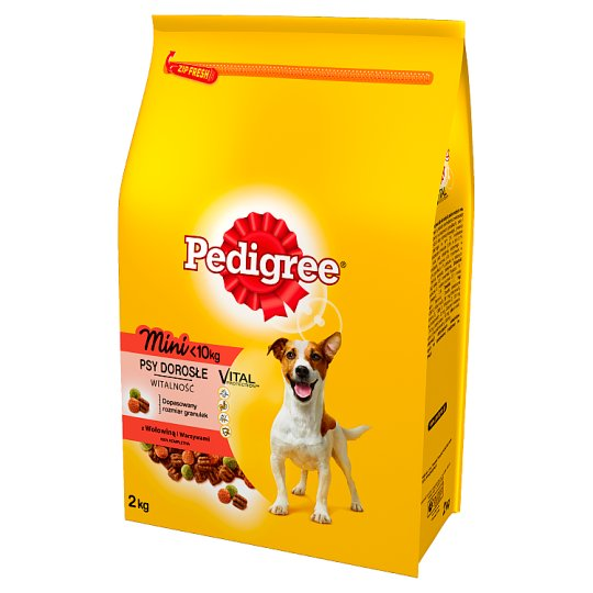 Pedigree Vital Protection Mini <10 kg Adult Complete Food with Beef and Vegetables 2 kg