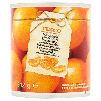 Tesco Mandarins in Light Syrup 312 g
