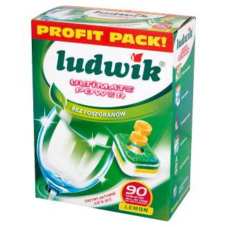 Ludwik Ultimate Power All in One Lemon Dishwasher Tablets 1.62 kg (90 Pieces)