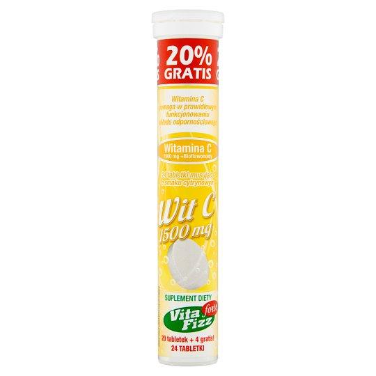 Vita Fizz Forte Lemon Flavour Vitamin C 1500 mg Dietary Supplement 96 g (24 Pieces)