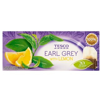 Tesco Earl Grey with Lemon Black Tea 35 g (20 Tea Bags)