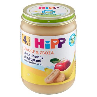 HiPP BIO Owoce & Zboża Apple and Banana with Biscuits after 4 Months Onwards 190 g