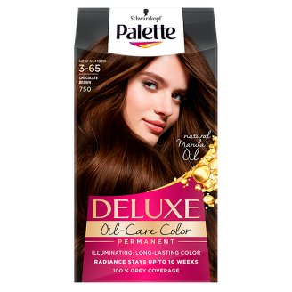Palette Deluxe Oil-Care Color Hair Colorant Chocolate Brown 750