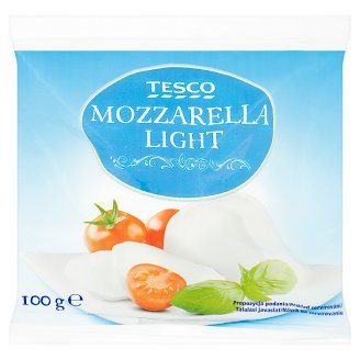 Tesco Light Mozzarella Cheese 100 g
