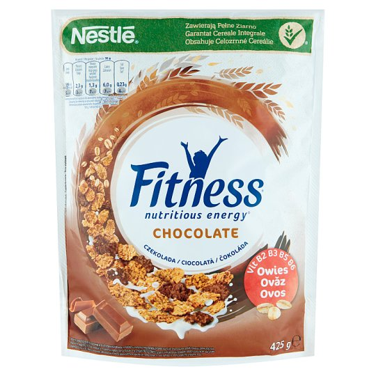 Nestlé Fitness Chocolate Whole Grain Wheat Flakes 425 g