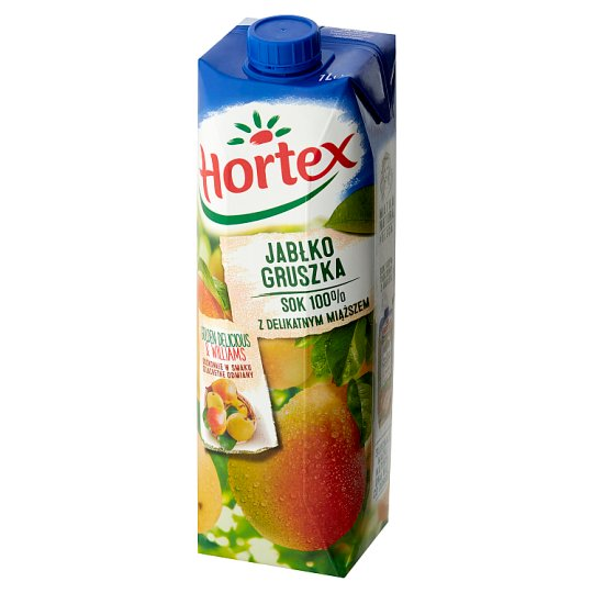 Hortex Sok 100% z delikatnym miąższem jabłko gruszka 1 l