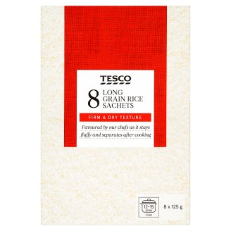 Tesco Long Grain White Rice 1 kg (8 Bags)