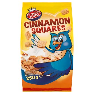 Breakfast King Cinnamon Squares Cereal 250 g