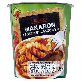 Tesco Makaron z sosem gulaszowym Danie instant 55 g