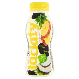 Łaciaty Lactose Free Pineapple Coconut Drinkable Yogurt 250 ml