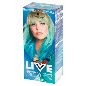 Schwarzkopf Live Ultra Brights or Pastel Hair Colorant Turquoise Temptation 096