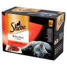 Sheba Selection in Sauce Kolekcja soczystych smaków Karma pełnoporcjowa 1,02 kg (12 saszetek)