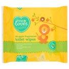 Tesco Loves Toddler Chusteczki toaletowe nawilżane dla dzieci o zapachu jabłkowym 60 sztuk