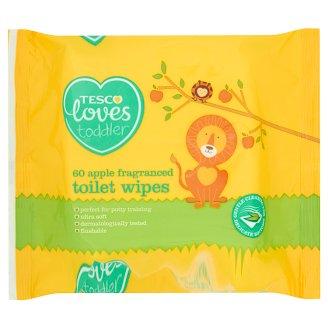 Tesco Loves Toddler Apple Fragranced Toilet Wipes 60 Pieces