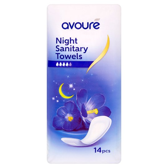 Avoure Night Sanitary Towels 14 Pieces