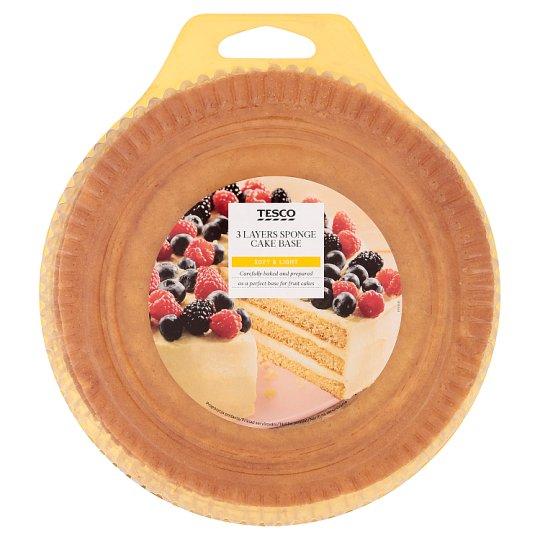 Tesco 3 Layers Sponge Cake Base 400 g