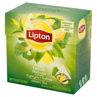 Lipton Tingly Lemon Melissa Flavoured Green Tea 32 g (20 Tea Bags)